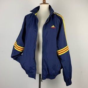 Vintage ADIDAS windbreaker Blue Yellow Red Zip Up